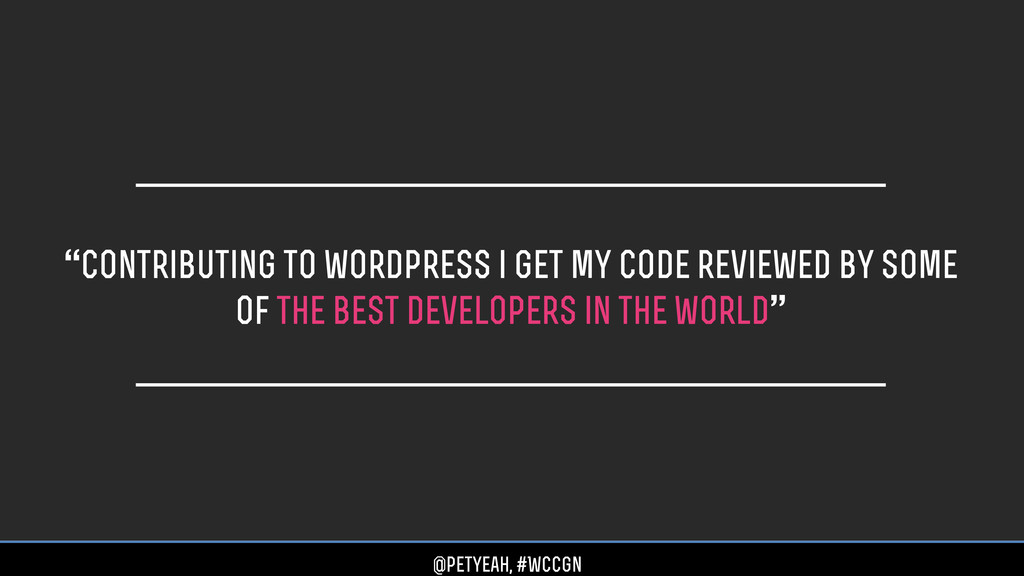 """""""Contributing to wordpress i get my code review..."""