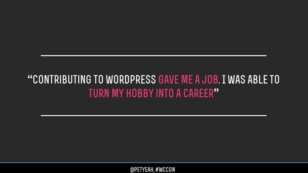 """Contributing to wordpress gave me a job. I was..."