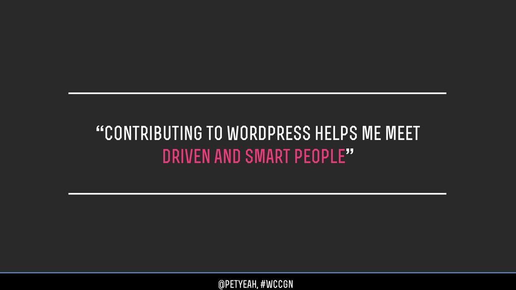 """contributing to wordpress helps me meet driven..."