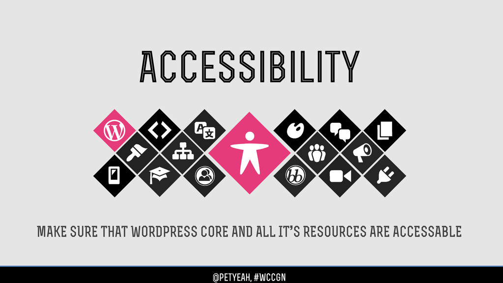 Accessibility MAKE SURE THAT WORDPRESS CORE AND...