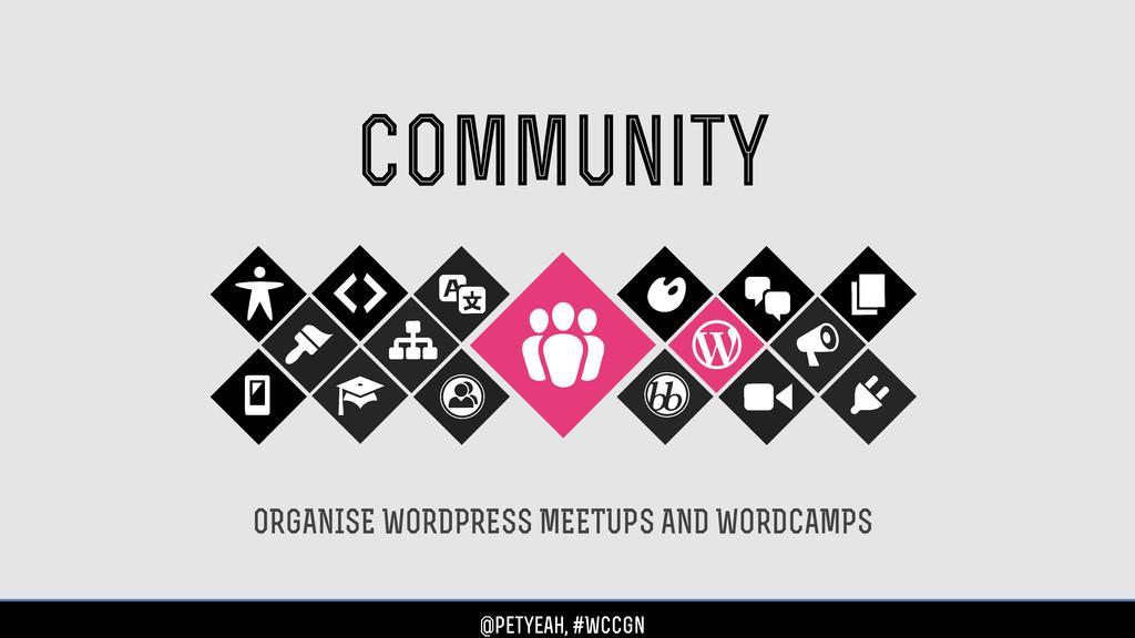 community ORGANISE WORDPRESS MEETUPS AND WORDCA...