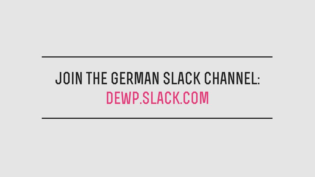 join the german slack channel: dewp.slack.com