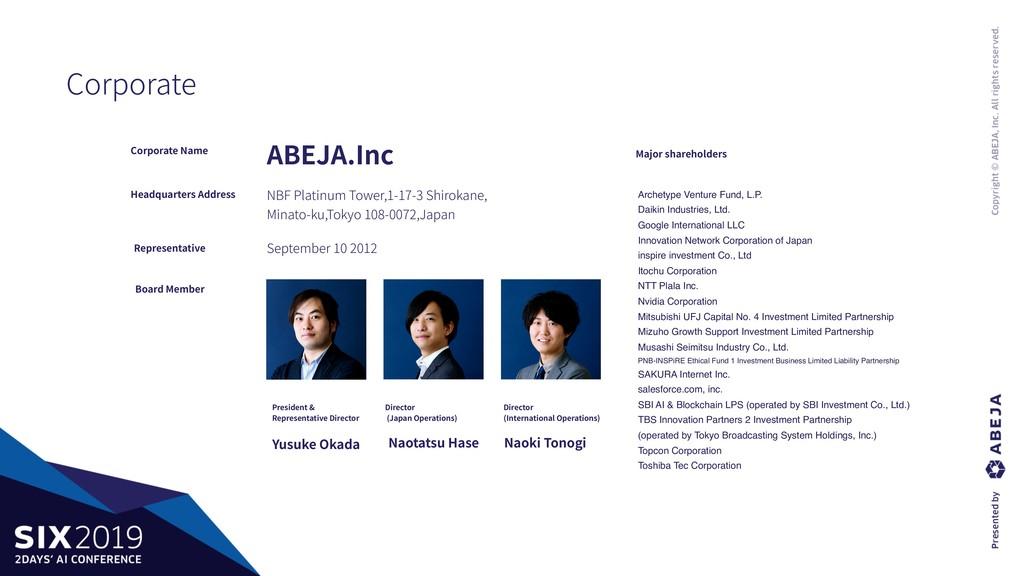 Corporate Corporate Name Headquarters Address R...