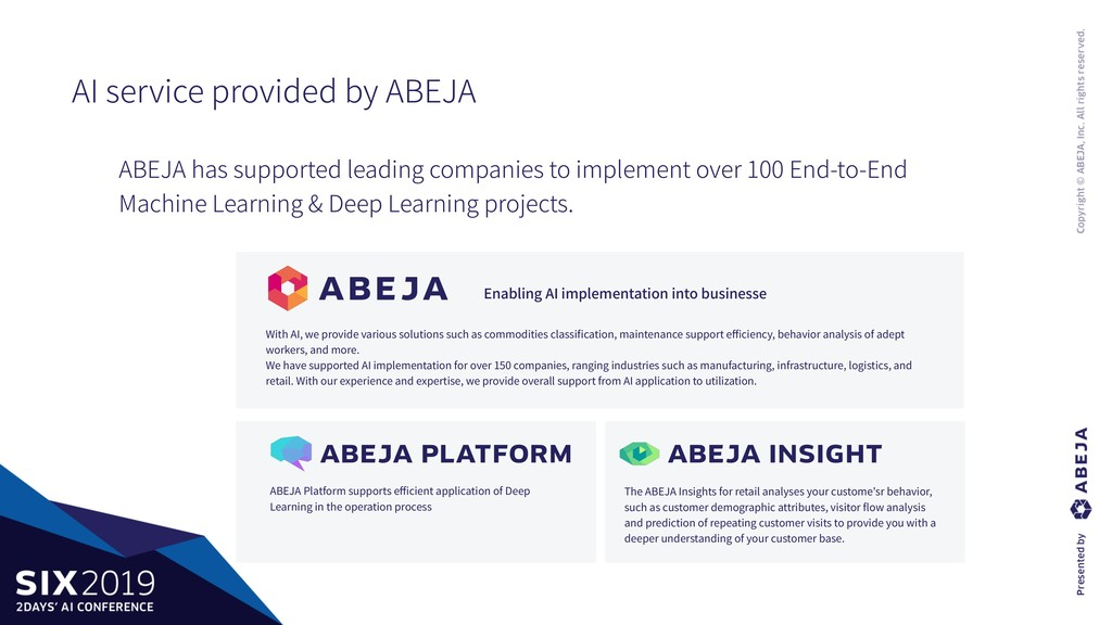 AI service provided by ABEJA Enabling AI implem...