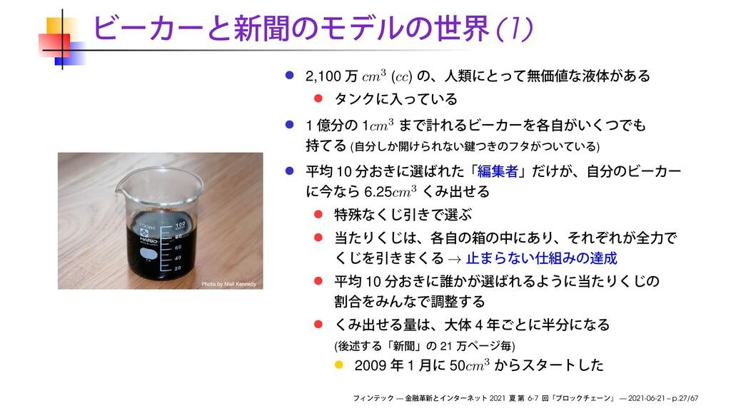 (1) 2,100 cm3 (cc) 1 1cm3 ( ) 10 6.25cm3 → 10 4...