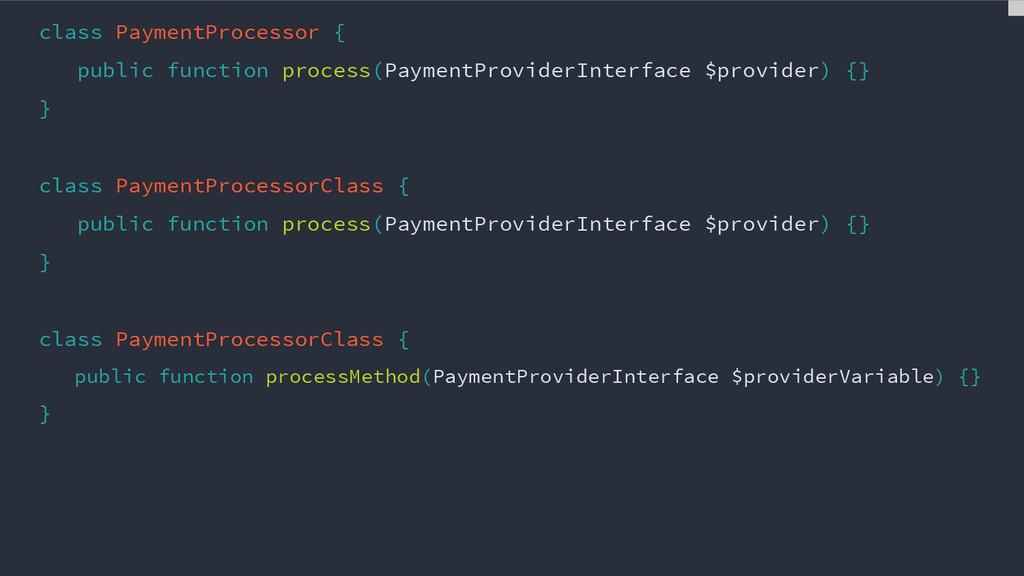 class PaymentProcessor { public function proces...