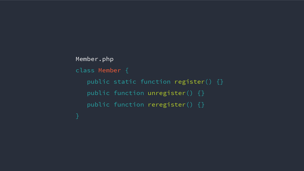 Member.php class Member { public static functio...