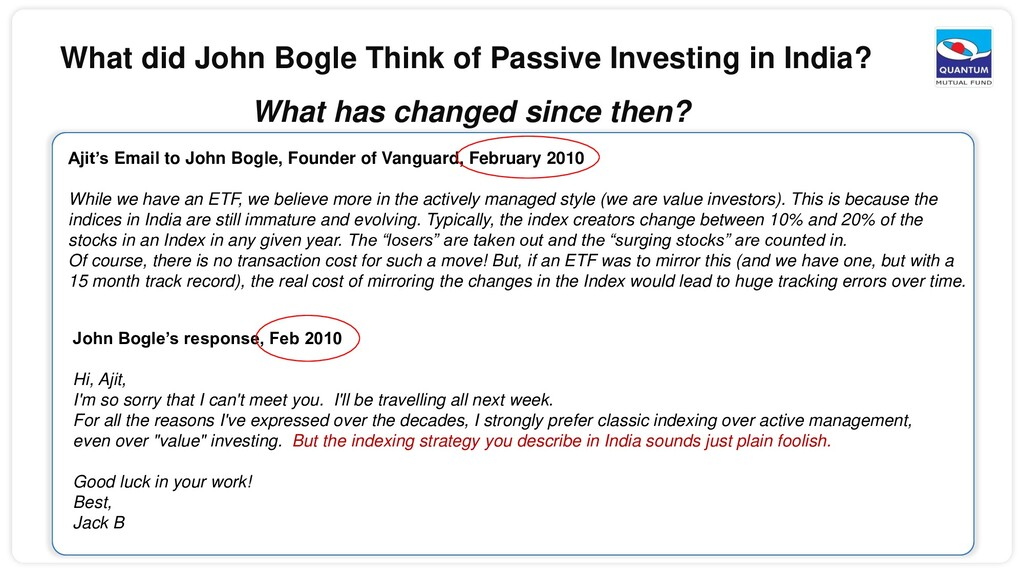 What did John Bogle Think of Passive Investing ...