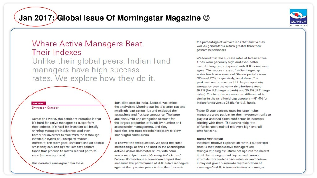 Jan 2017: Global Issue Of Morningstar Magazine 