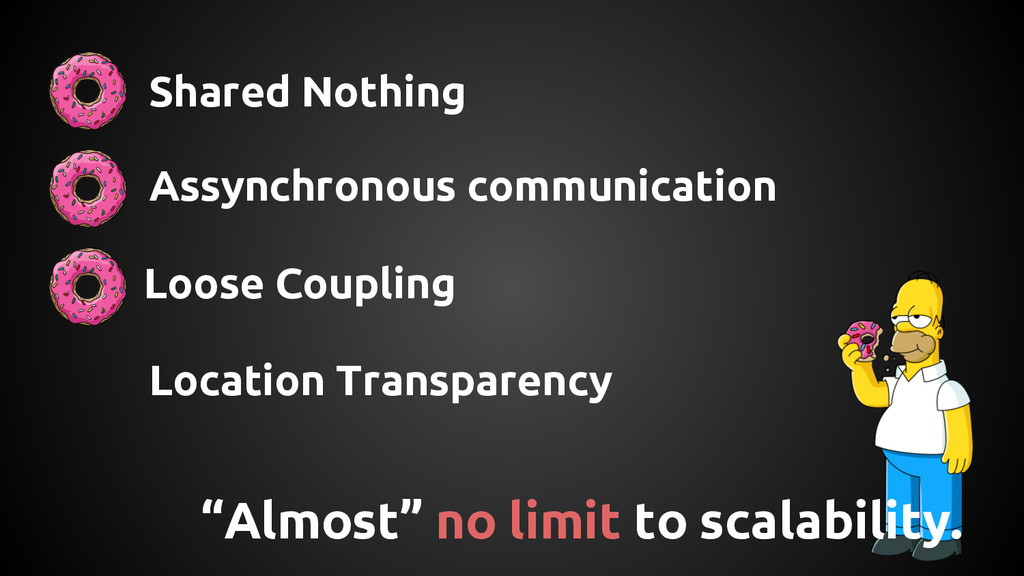 """Almost"" no limit to scalability. Shared Nothin..."