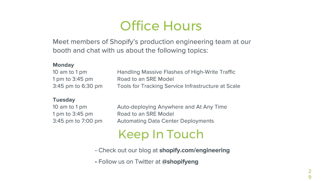 Office Hours Keep In Touch - -