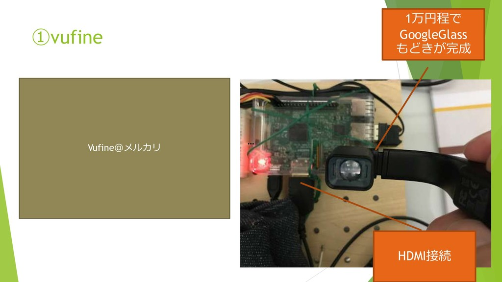 ①vufine 1万円程で GoogleGlass もどきが完成 … HDMI接続 Vufin...