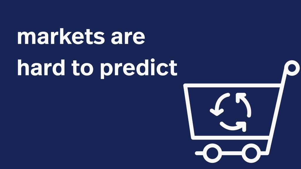 markets are hard to predict