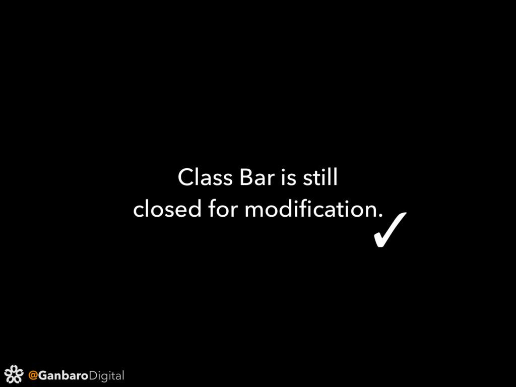 @GanbaroDigital Class Bar is still closed for m...
