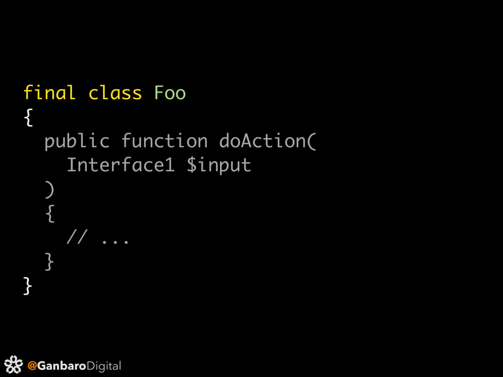 @GanbaroDigital final class Foo { public functi...