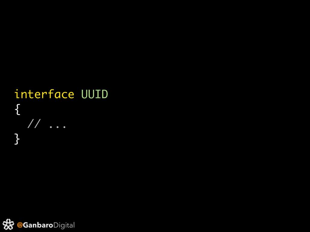 @GanbaroDigital interface UUID { // ... }
