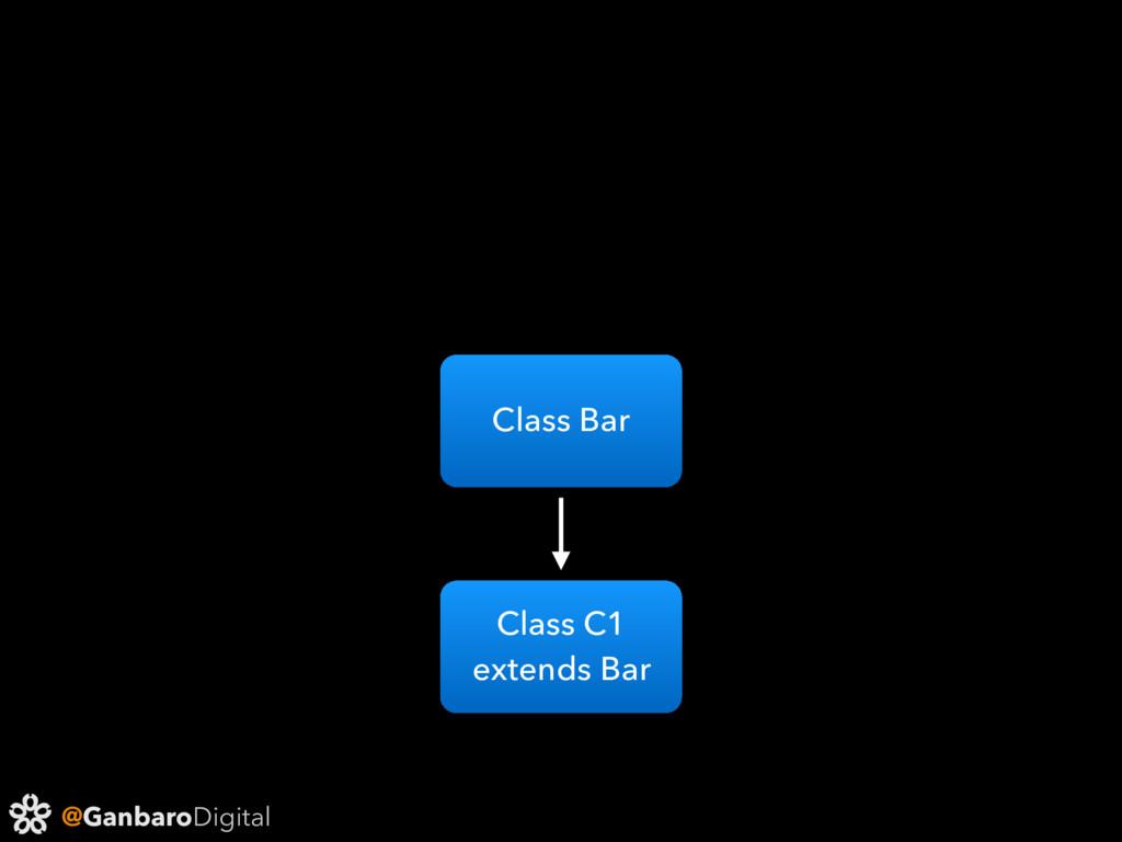 @GanbaroDigital Class Bar Class C1 extends Bar