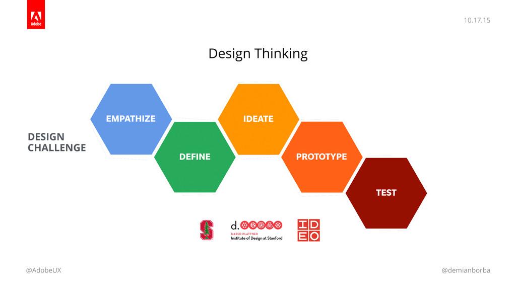 10.17.15 @AdobeUX @demianborba Design Thinking ...