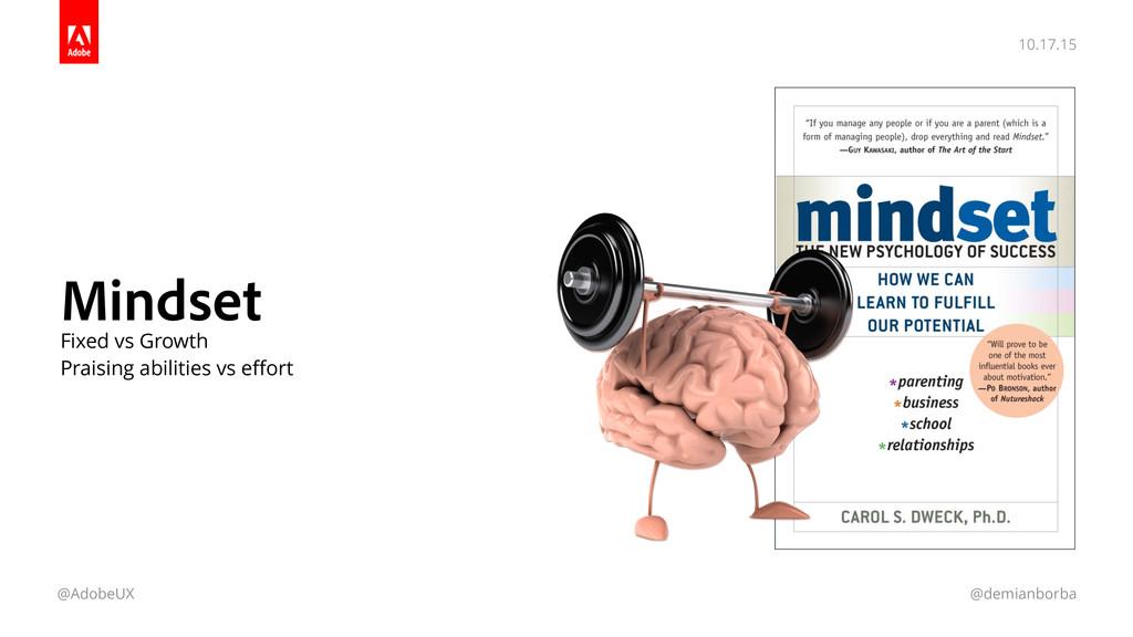 10.17.15 @AdobeUX @demianborba Mindset Fixed vs...