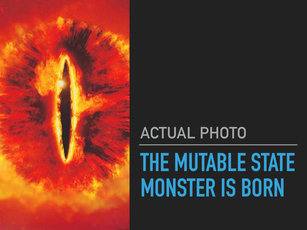 THE MUTABLE STATE MONSTER IS BORN ACTUAL PHOTO