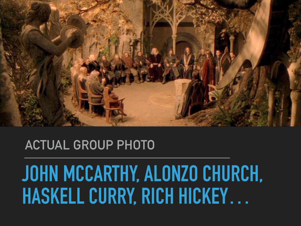 JOHN MCCARTHY, ALONZO CHURCH, HASKELL CURRY, RI...