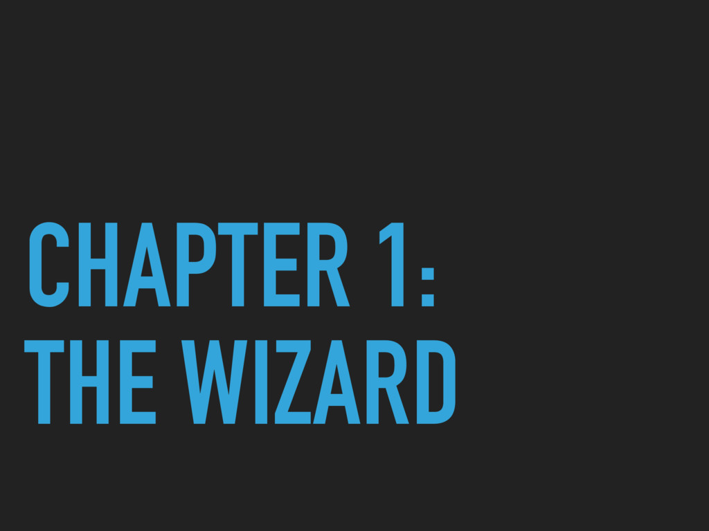 CHAPTER 1: THE WIZARD