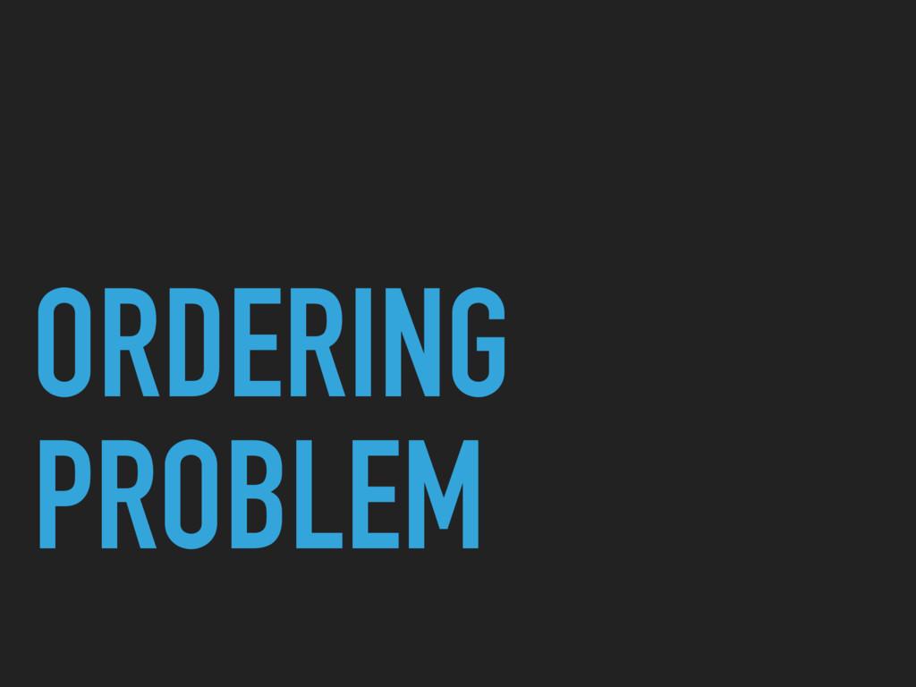ORDERING PROBLEM