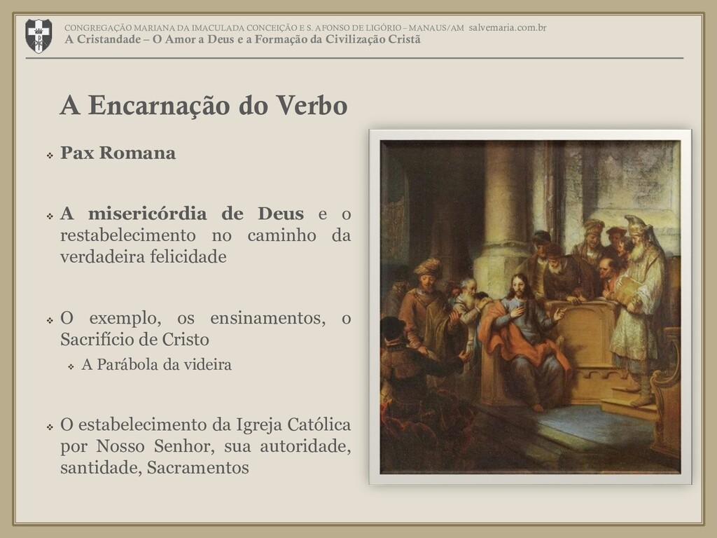  Pax Romana  A misericórdia de Deus e o resta...
