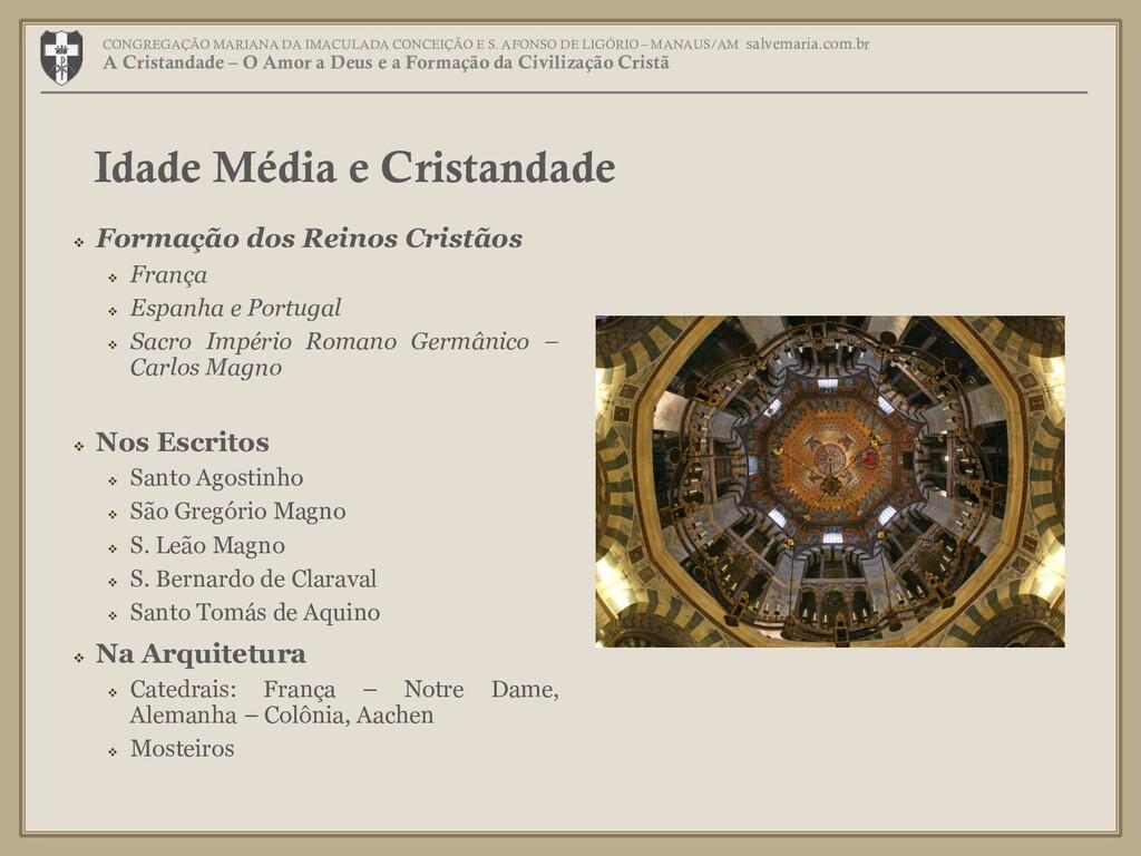  Formação dos Reinos Cristãos  França  Espan...