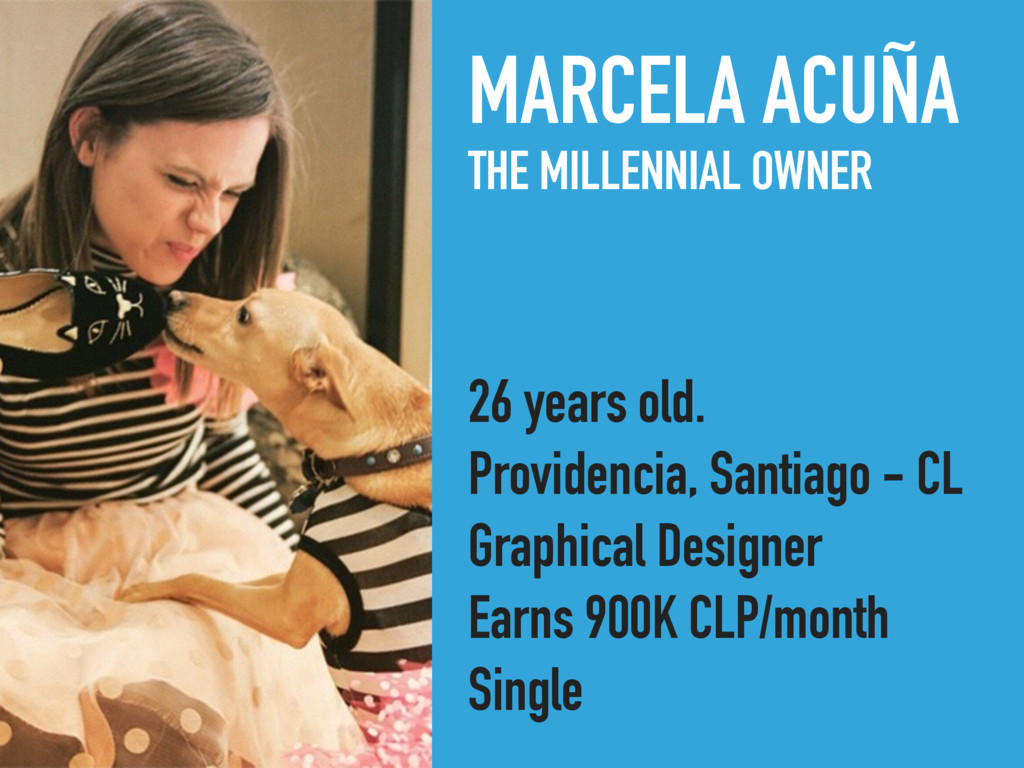 MARCELA ACUÑA THE MILLENNIAL OWNER 26 years old...