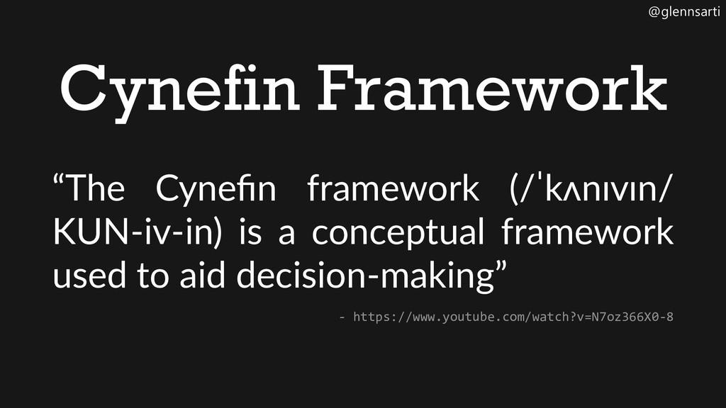 """@glennsarti Cynefin Framework """"The Cynefin fram..."""