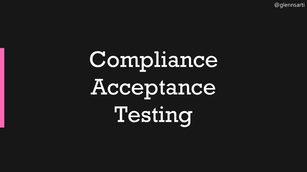 @glennsarti Compliance Acceptance Testing