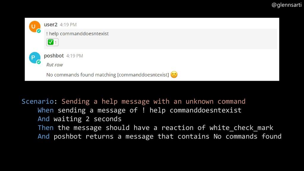 @glennsarti Scenario: Sending a help message wi...