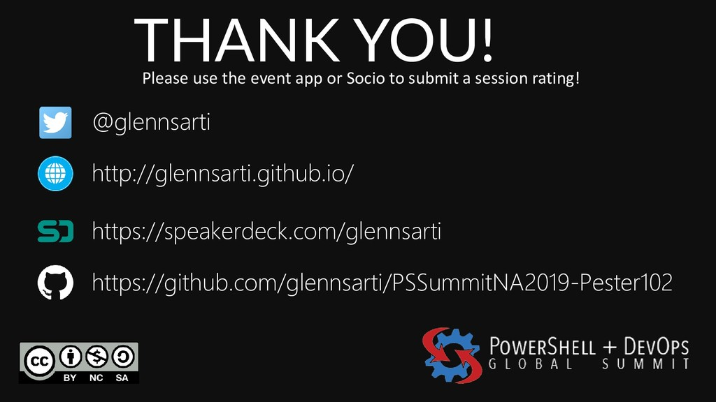 THANK YOU! Please use the event app or Socio to...