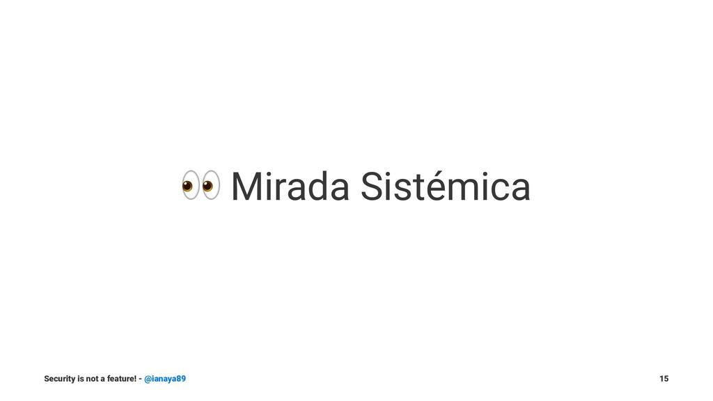 ! Mirada Sistémica Security is not a feature! -...