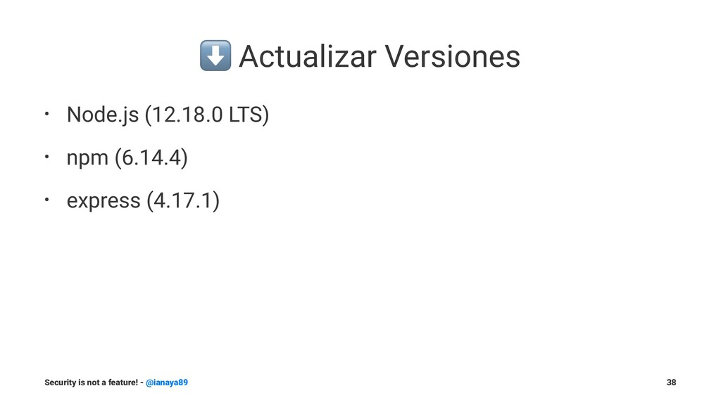 ⬇ Actualizar Versiones • Node.js (12.18.0 LTS) ...