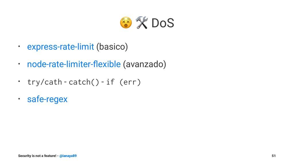 "! "" DoS • express-rate-limit (basico) • node-ra..."