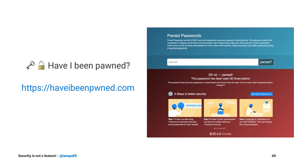 """! """" Have I been pawned? https://haveibeenpwned...."""