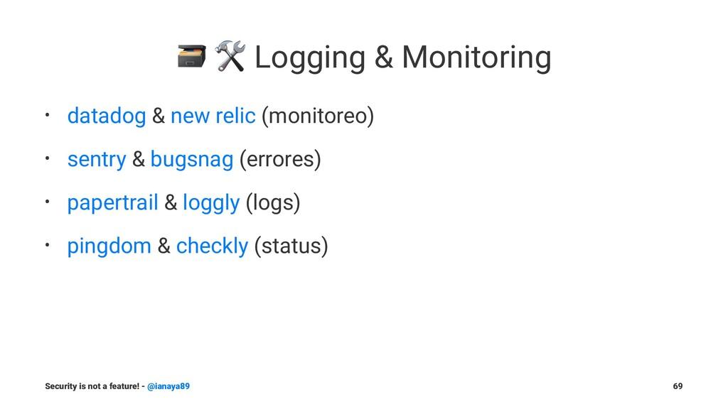 """! """" Logging & Monitoring • datadog & new relic ..."""
