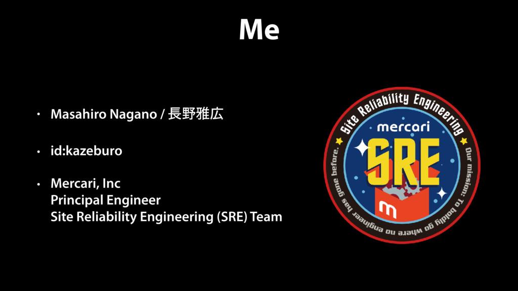 Me • Masahiro Nagano / խ • id:kazeburo • Mer...