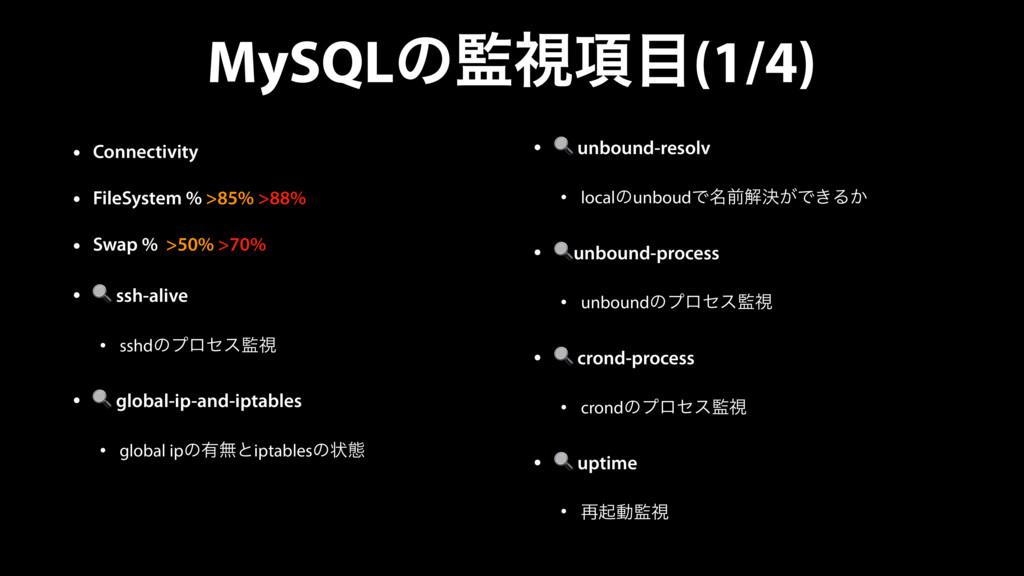 MySQLͷࢹ߲(1/4) • Connectivity • FileSystem % >...
