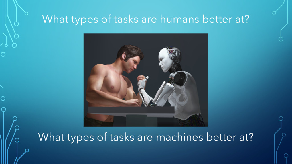 What types of tasks are humans better at? What ...