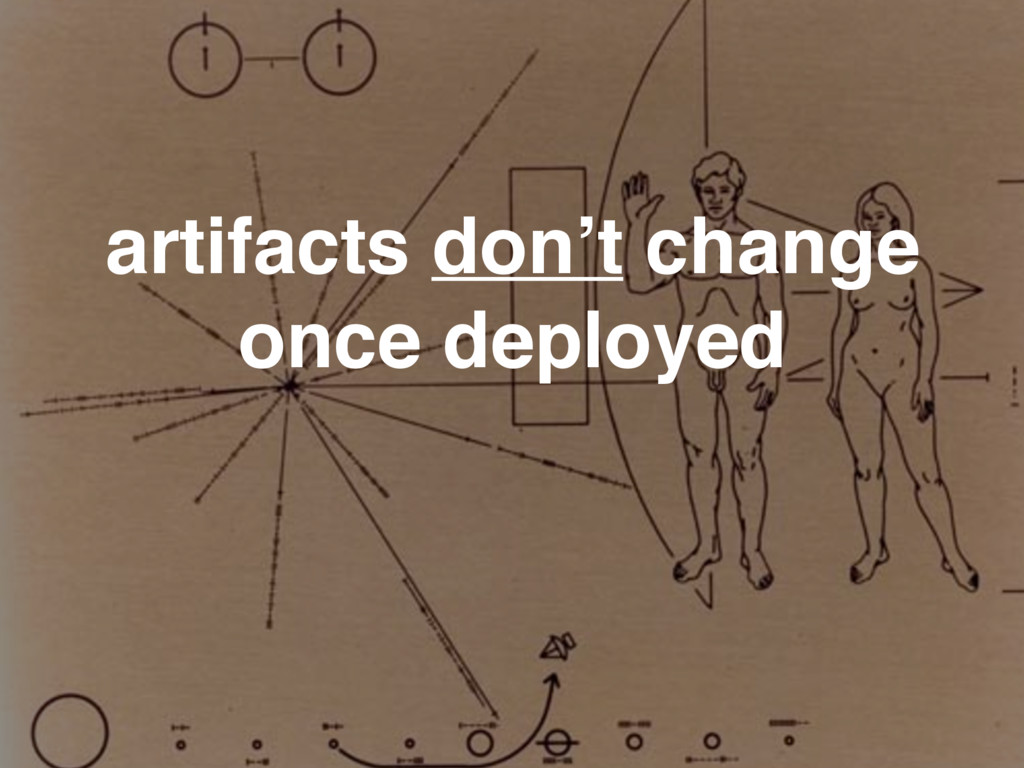 artifacts don't change once deployed