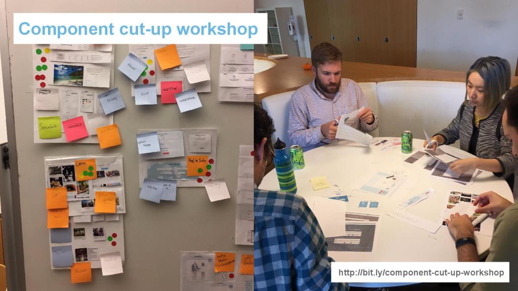 Component cut-up workshop http://bit.ly/compone...