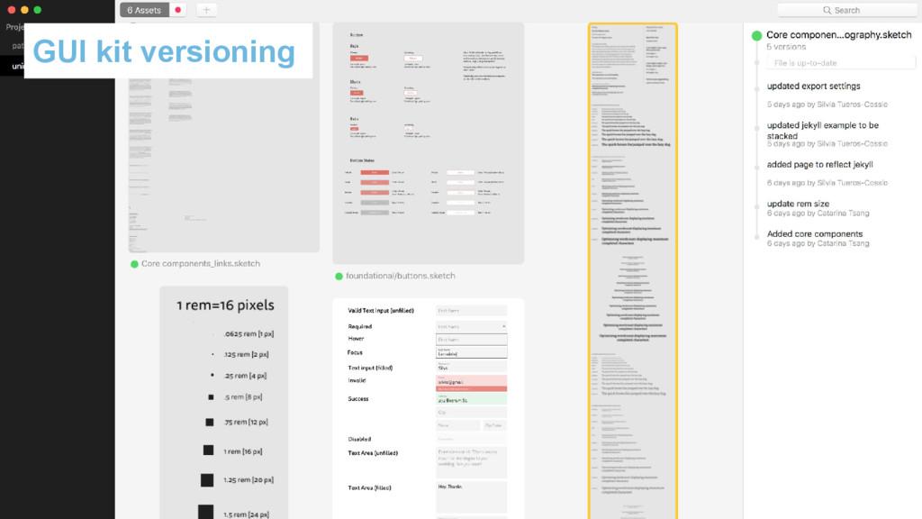 GUI kit versioning