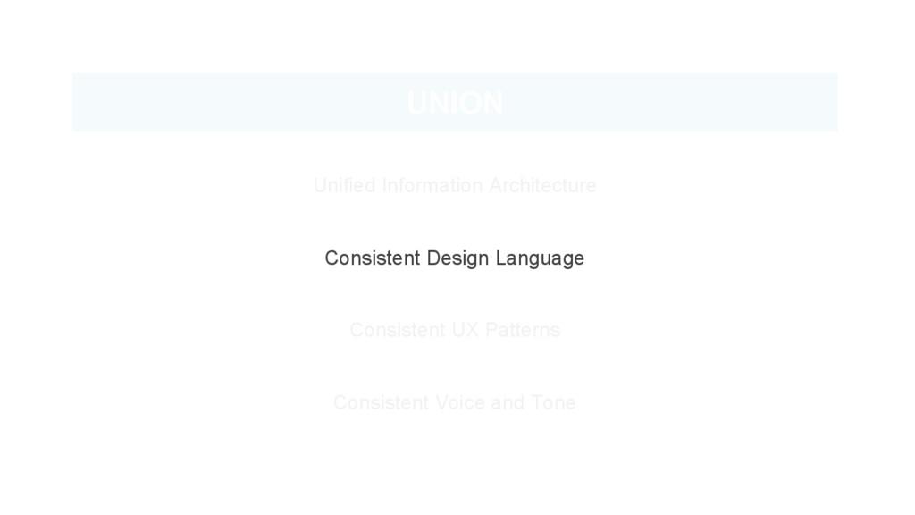 UNION Unified Information Architecture Consiste...