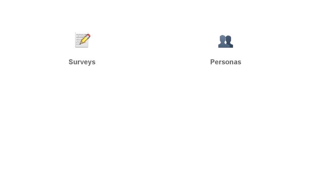 Surveys Personas
