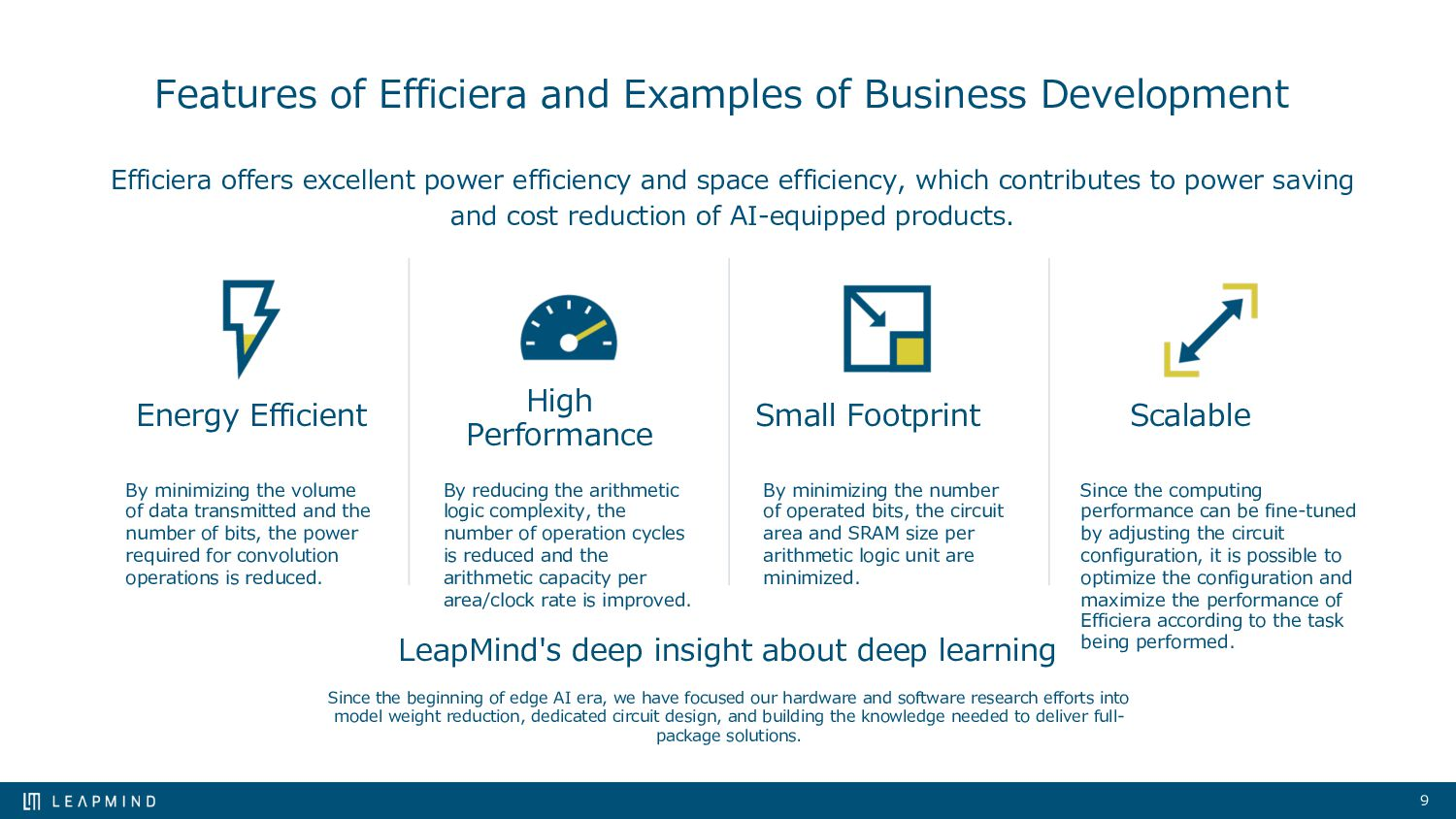 ● Extreme quantization reduces logic and memory...