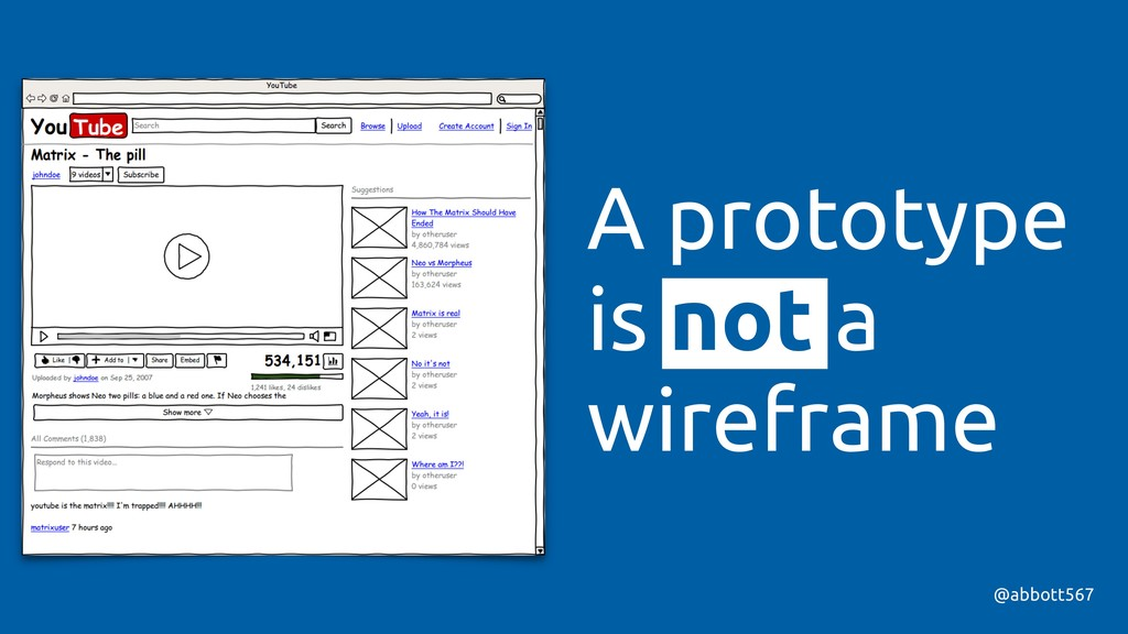 @abbott567 A prototype is not a wireframe