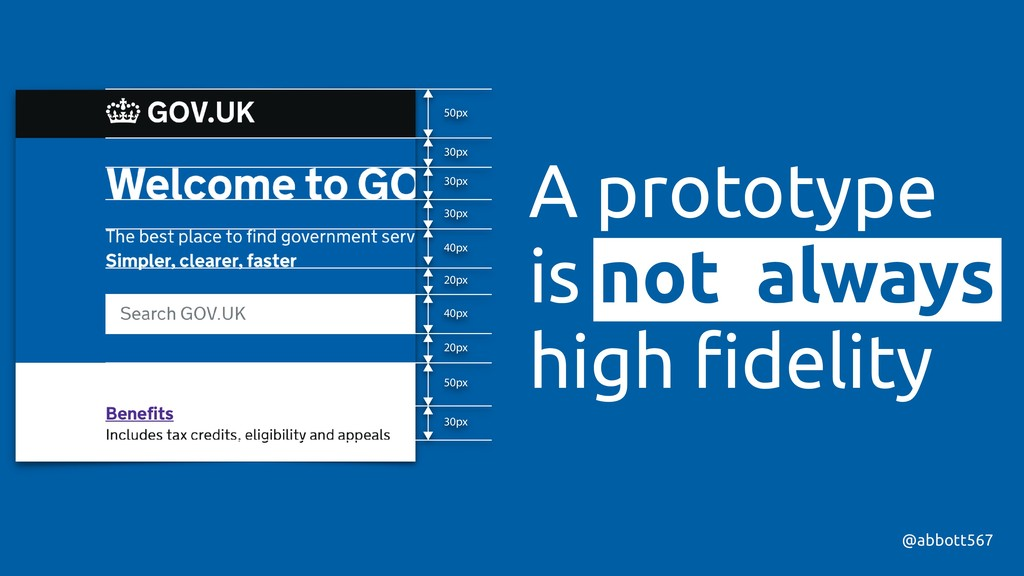 A prototype is not always high fidelity @abbott5...